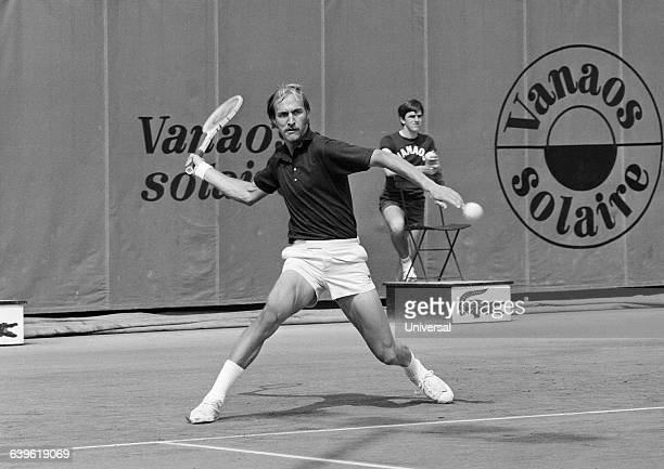 American player Stan Smith during the 1973 Roland Garros French Open