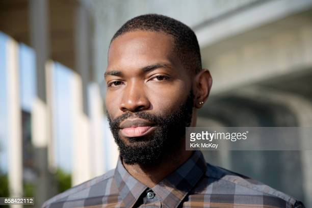 American playwright and actor Tarell Alvin McCraney is photographed for Los Angeles Times on September 15 2017 in Los Angeles California