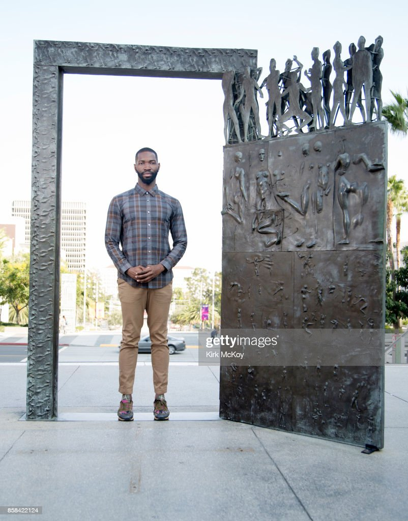 American playwright and actor Tarell Alvin McCraney is photographed for Los Angeles Times on September 15, 2017 in Los Angeles, California.