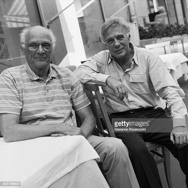 American playwright and author Arthur Miller meets French humorist Guy Bedos who adapted one of Miller's plays Derapages