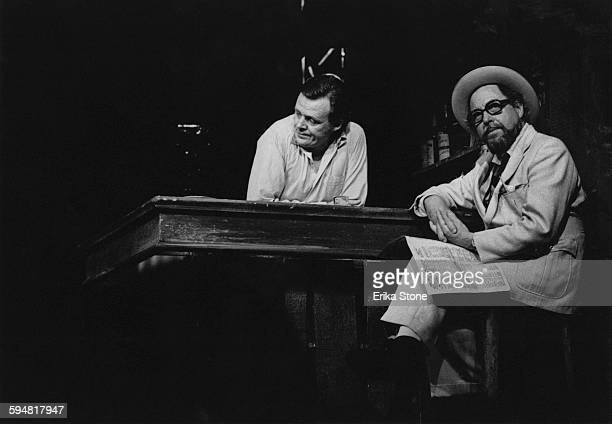 American playwright and author Tennessee Williams appears as Doc in an off-Broadway production of his own play 'Small Craft Warnings', New York City,...