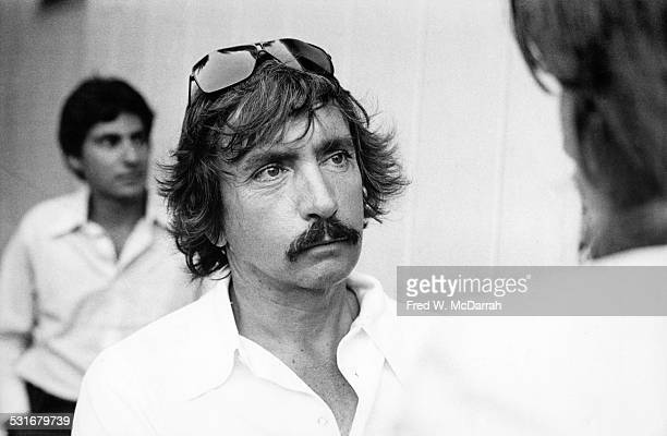 American playwright Edward Albee attends a party at the Elaine Benson Gallery Bridgehampton New York July 19 1975