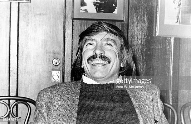 American playwright Edward Albee laughs as he participates in panel discussion on the theatre New York New York January 19 1979