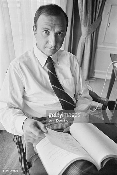American playwright Neil Simon in London for the opening of his musical 'Promises Promises' 20th September 1969 The musical is based on the 1960 film...