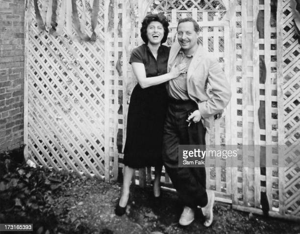 American playwright Tennessee Williams with Italian actress Anna Magnani on the set of 'The Fugitive Kind' New York 1959 The film is based on...