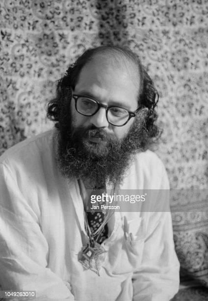 American poet Allen Ginsberg at home, New York, 1968.
