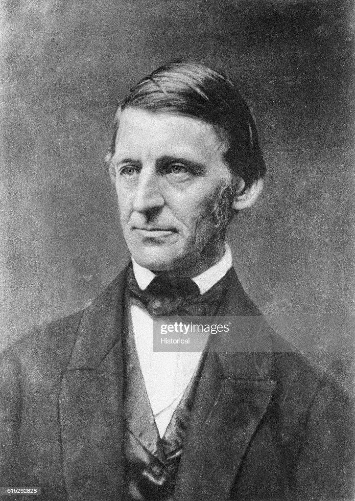 Portrait of American Poet, Ralph Waldo Emerson : News Photo
