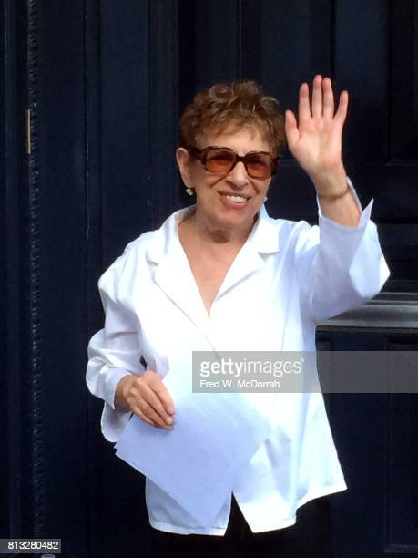 American poet and magazine editor Hettie Cohen Jones waves in front of her home New York New York June 20 2017 She was photographed during the...
