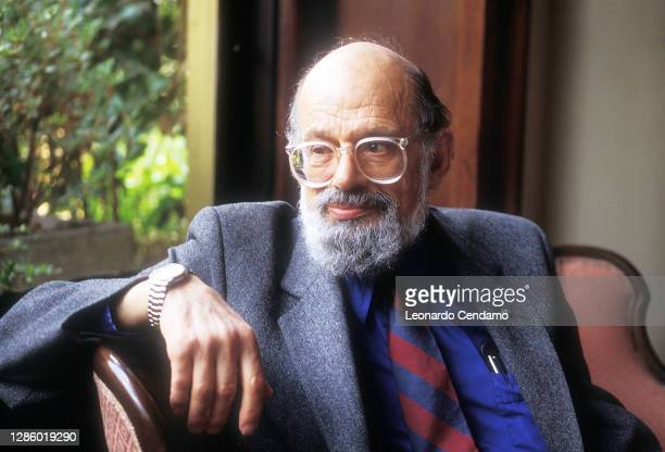 American poet and writer Allen Ginsberg , Milan, Italy, 2nd March 1992.
