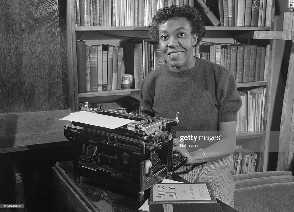 A 32-year-old housewife and part time secretary has won the Pulitzer Prize in Poetry for 'Annie Allen,' a ballad of Chicago Negro life. The first woman to capture one of the famed awards, she is the mother of a 9-year-old boy and the wife of Henry Blakely, partner in an auto repair shop.