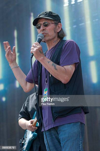 American poet musician and activist John Trudell onstage during the Farm Aid 2011 benefit concert at Livestrong Sporting Park Kansas City Kansas...