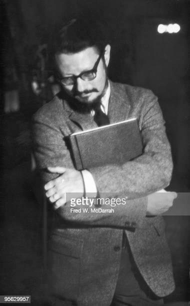 American poet Paul Blackburn at poetry reading New York New York February 14 1967