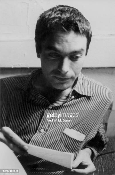 American poet Philip Lamantia reads from a piece of paper New York New York December 5 1959
