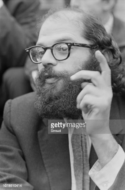 American poet philosopher and writer Allen Ginsberg at the Albert Memorial in South Kensington London 11th June 1965 He is due to take part in the...