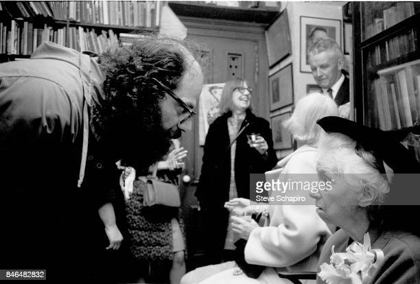 American poets Allen Ginsberg and Marianne Moore speak during an unspecified event New York New York 1969