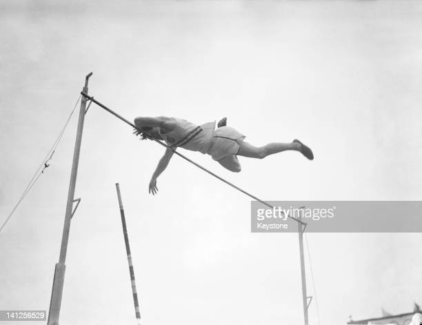 American pole vaulter Bob Richards in action at the London Olympics at Wembley Stadium 1948 An ordained minister Richards was nicknamed 'The Vaulting...