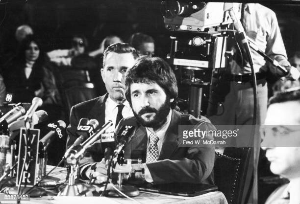 American police officer Frank Serpico testifies before the Knapp Commission on widespread corruption on the force New York New York November 13 1971...