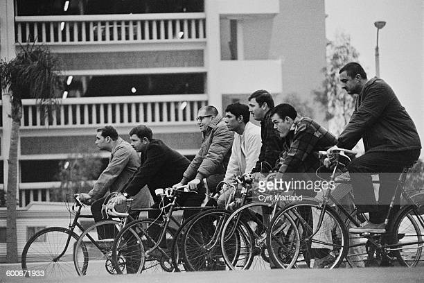 American police officers on bicycles in Pasadena California 13th February 1970