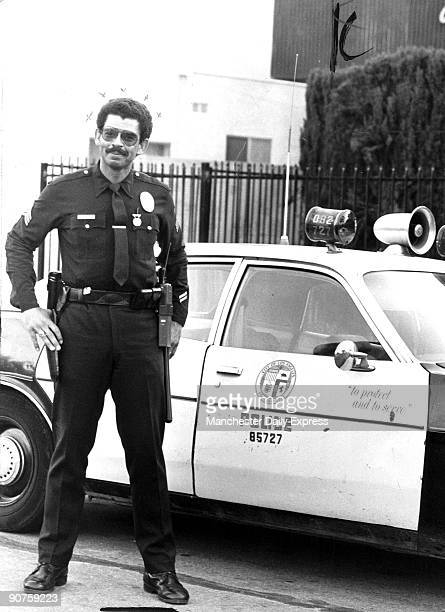 American policeman Ed Wilson of the Los Angeles Police Department