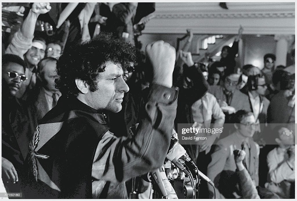 Abbie Hoffman At New Haven Panthers Rally : News Photo