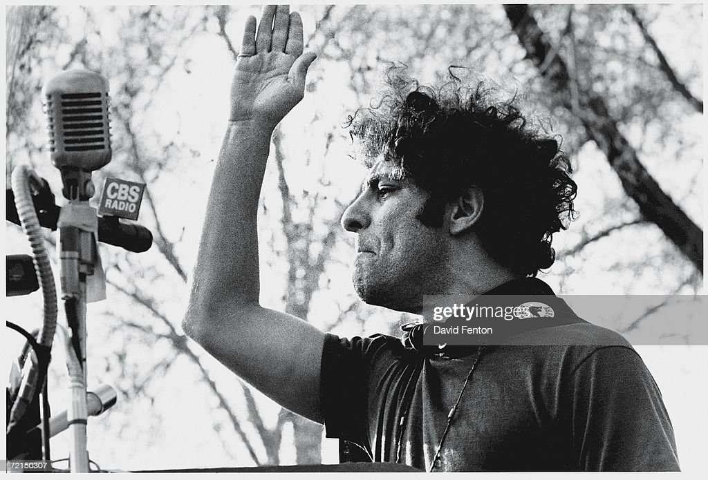 Abbie Hoffman Speaks At Black Panther Rally : News Photo