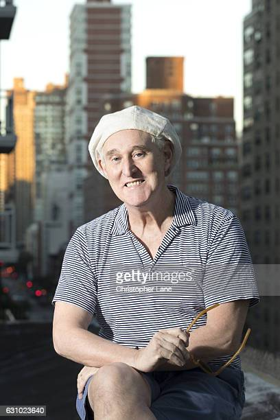 American political consultant Roger Stone is photographed for Paris Match on September 24 2016 in New York New York