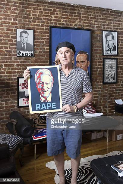 American political consultant Roger Stone is photographed for Paris Match on September 24 2016 in New York New York PUBLISHED IMAGE
