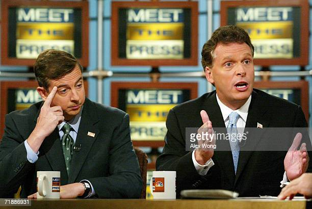 American political leader and Democratic National Committee Chairman Terence Richard 'Terry' McAuliffe and Republican lobbyist Edward Gillespie...