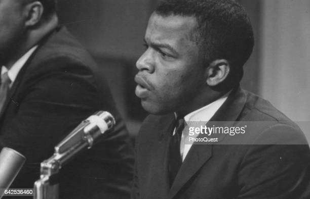 American politician and Civil Rights leader John Lewis speaks at a meeting of the American Society of Newspaper Editors, Washington DC, April 16,...