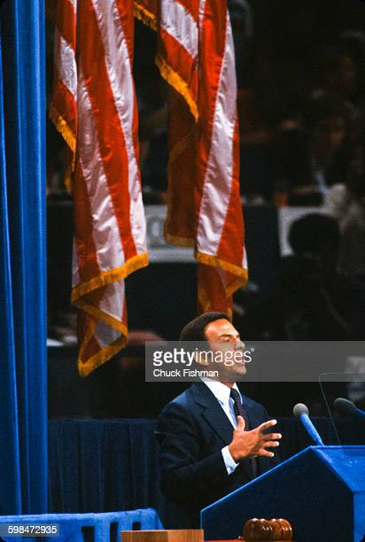 American politician and diplomat Andrew Young speaks at the Democratic National Convention New York New York 1980