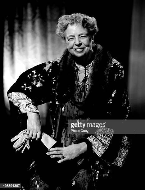 American politician and former First Lady of the United States Eleanor Roosevelt Montreal 1955