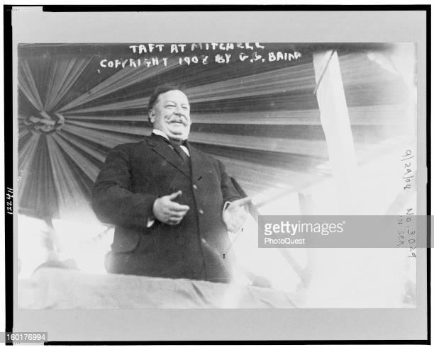 American politician and future US President William Howard Taft speaks , September 29, 1908.