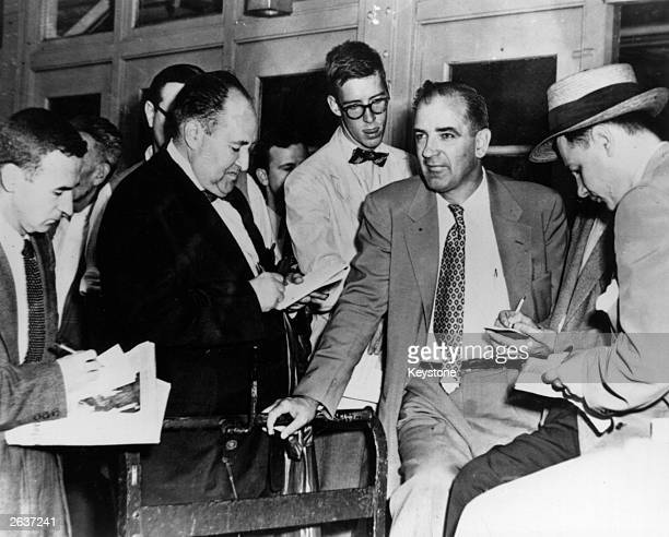 American politician and inquisitor Joseph Raymond McCarthy , who became famous for his investigation into supposed communist subversion.