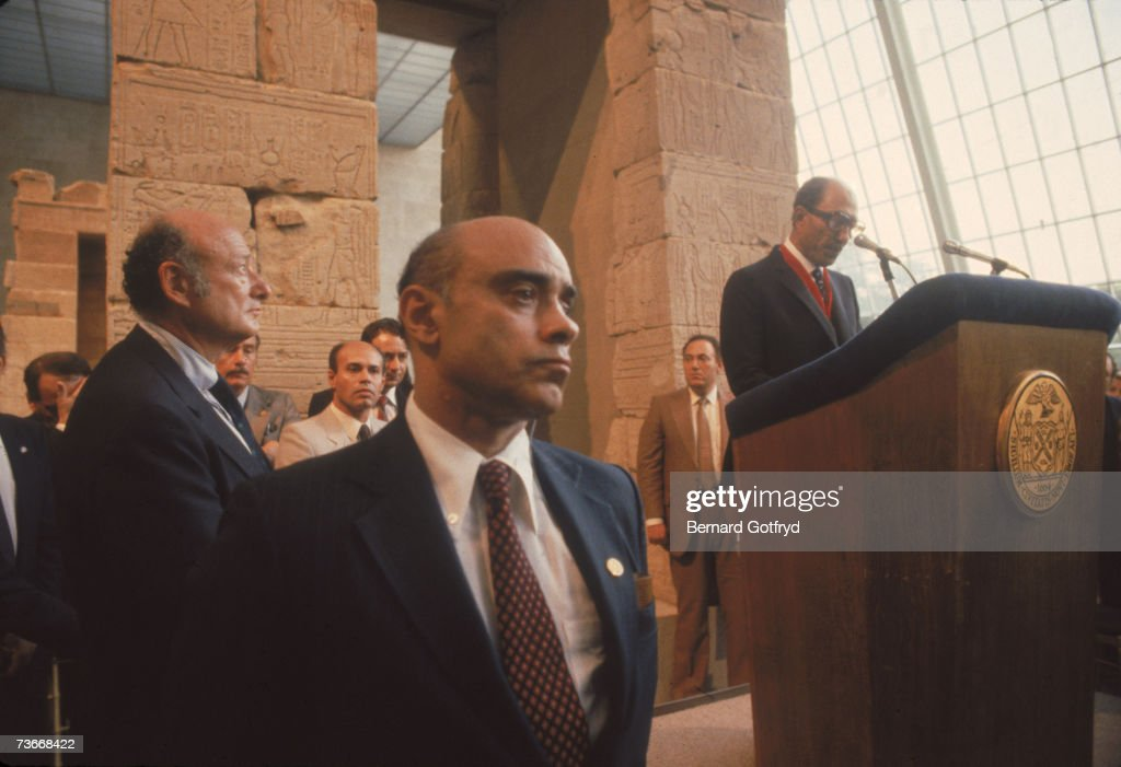 President Sadat Speaks At The Met : News Photo