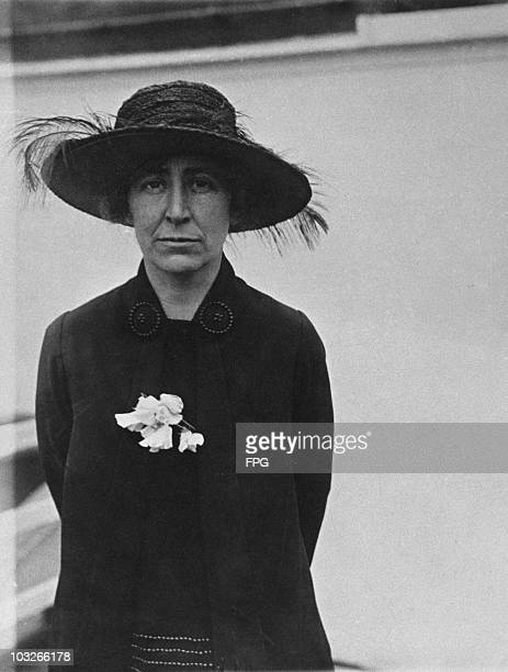 American politician and peace activist Jeannette Rankin , circa 1918. She was was the first woman elected to the US House of Representatives.