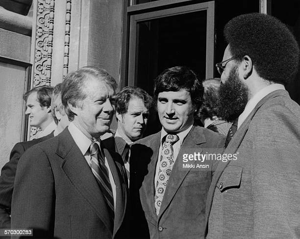 American politician and Presidential candidate Jimmy Carter campaigns in Boston Massachusetts 1976