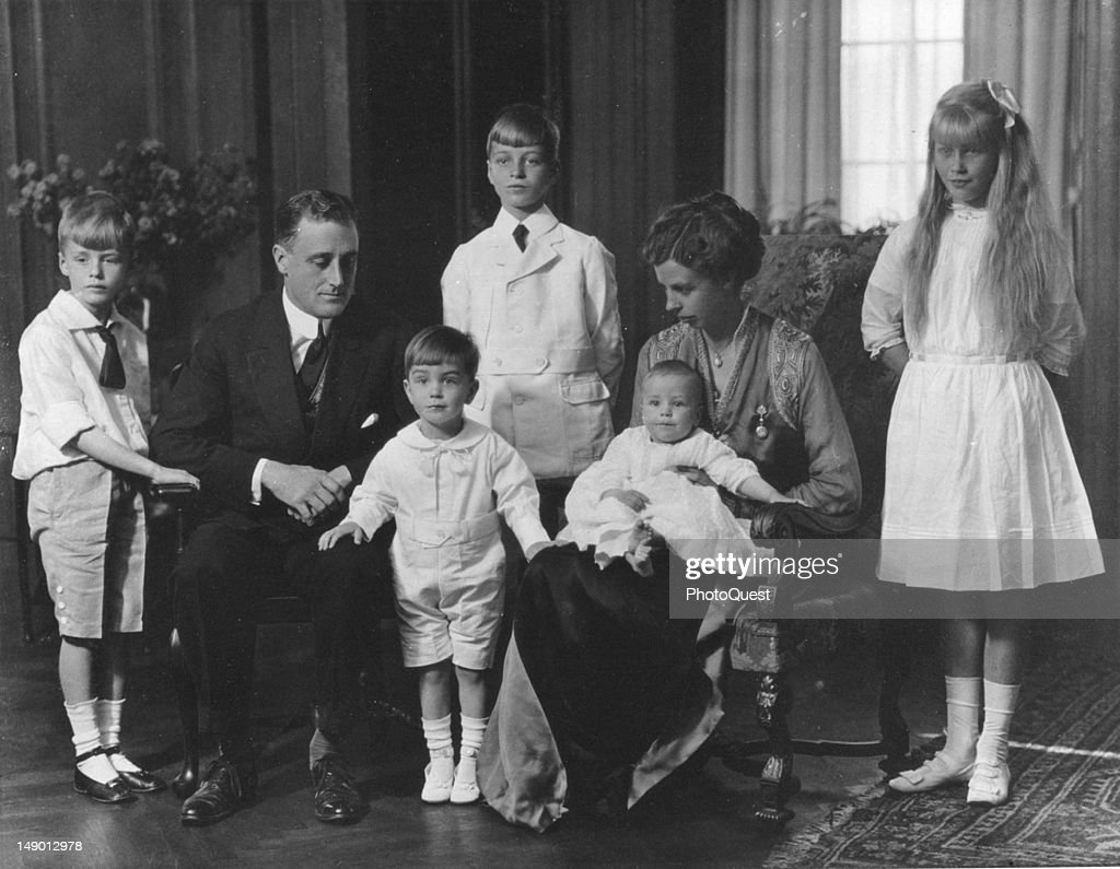 The Roosevelts At Home : News Photo