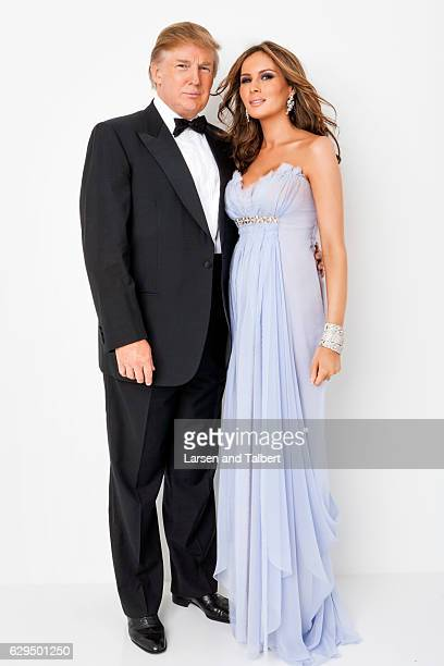 American politician businessman and Presidentelect of the United States Donald Trump and wife Melania Trump are photographed for People Magazine on...