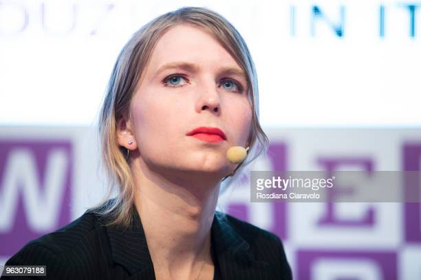 American Politician Chelsea Manning attends Wired Next Fest on May 27 2018 in Milan Italy
