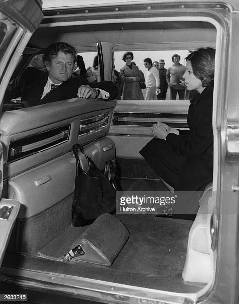 American politician Edward Kennedy in Greece for the funeral of Aristotle Onassis Original Publication People Disc HH0393