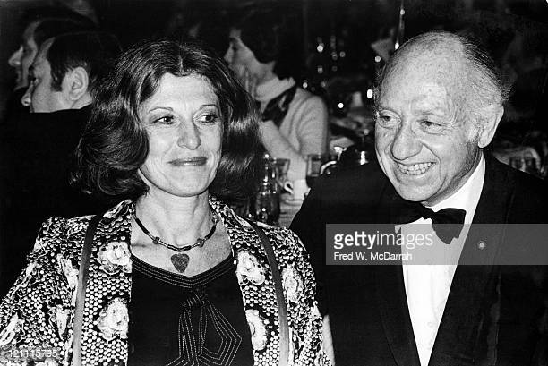 American politician Jacob K Javits and his wife Marion Javits attend the Alfred E Smith memorial dinner at the Waldorf New York New York October 16...