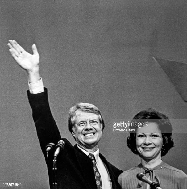 American politician Jimmy Carter and his wife Rosalynn Carter at the Democratic National Convention New York New York July 15 1976