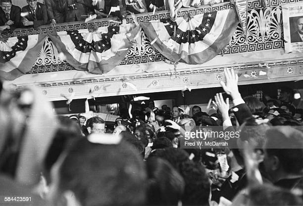 American politician John V Lindsay enters the ballroom after his mayoral victory 1965 He served as mayor from 1966 to 1973