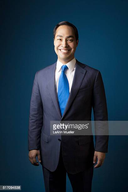 American politician Julian Castro is photographed for Texas Monthly Magazine on August 1 2013 in Austin Texas