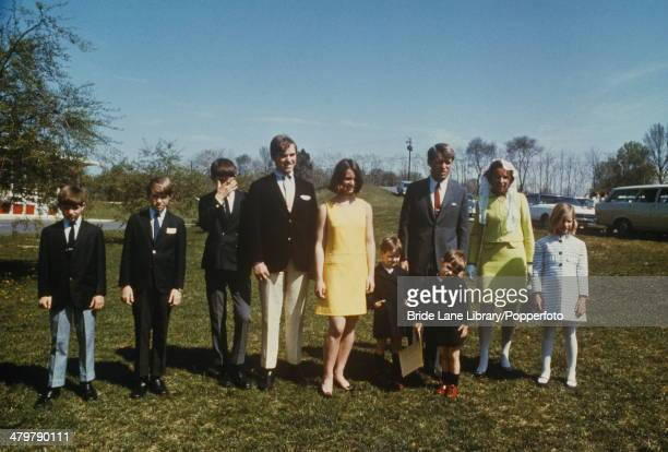 American politician Robert F Kennedy with his family USA April 1968 From left to right Michael David Robert Jr Joseph Kathleen Matthew Robert...