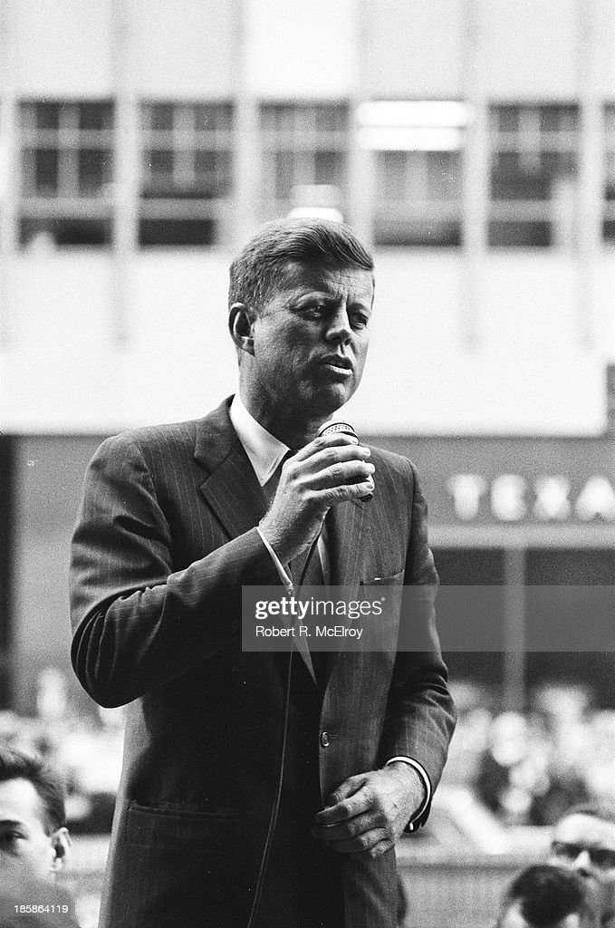 JFK Campaigns In NYC : News Photo