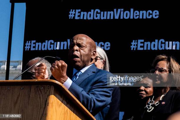 American politician US Congressman John Lewis, speaks from the stage during an End Gun Violence rally, Washington DC, September 25, 2019.