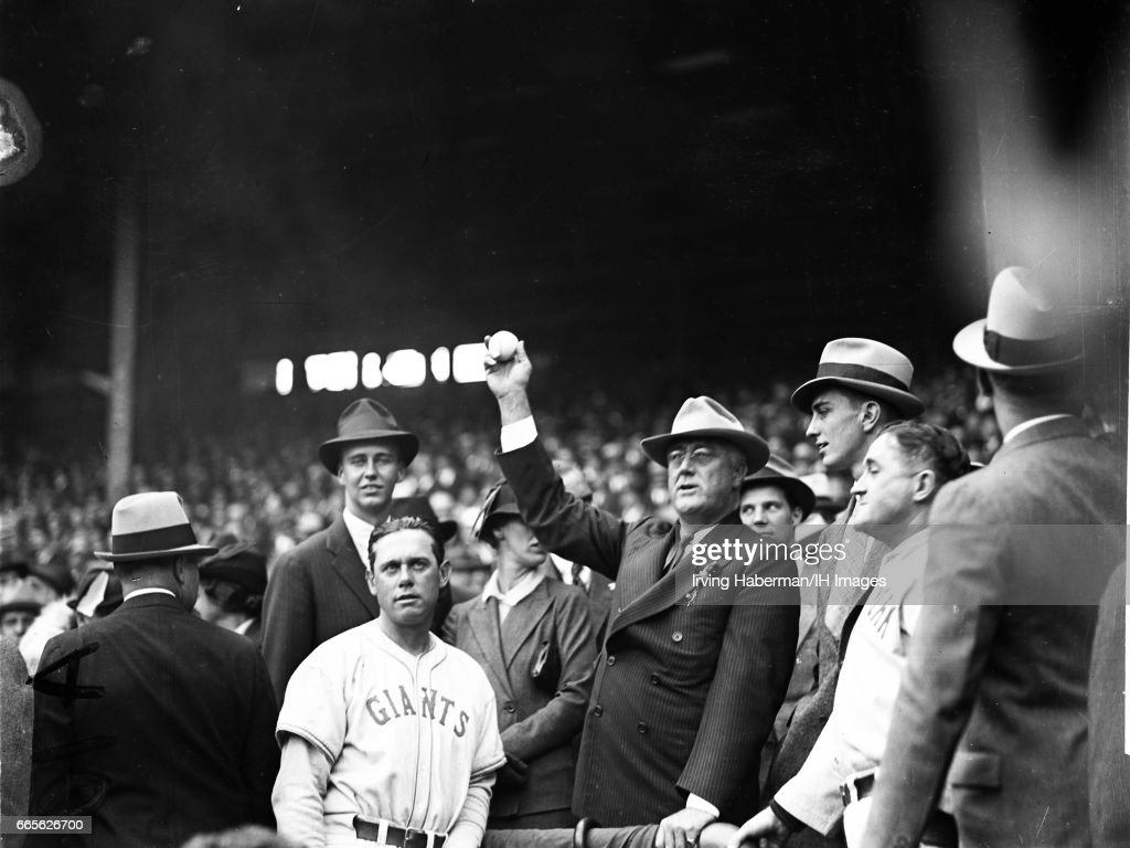 FDR At The World Series : News Photo