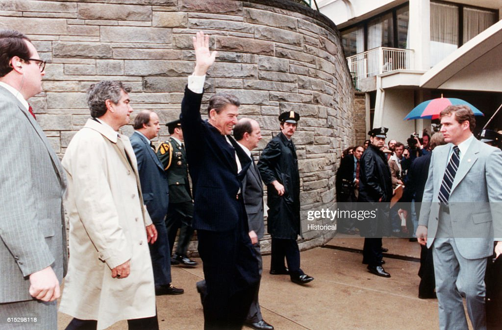 American President Ronald Reagan Is Shot By John Hinckley, Jr.