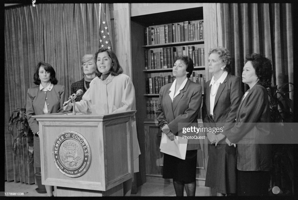 Congresswomen Condemn Veto Of Civil Rights Legislation : News Photo